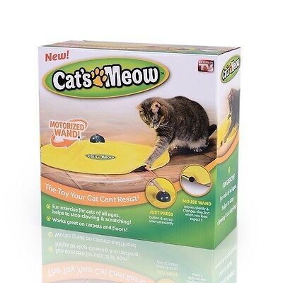 Cat'S Meow Motorized Wand Cat Toys Undercover Mouse Exercise Toy 11684
