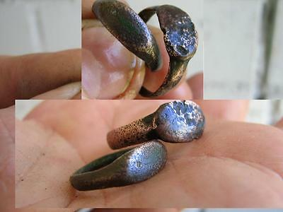 Nice Medieval Bronze Two Rings #3032