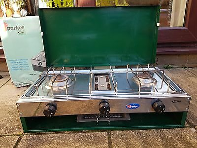 Camping Stove - 2 Burner & Grill - Made in Italy - CF Parker model 552