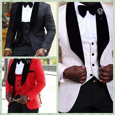 Latest Men's Wedding Groom Tuxedos Groomsman Best Man Party Prom Suits Bespoke