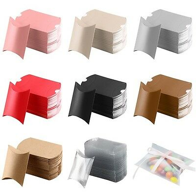 52 Pcs Pillow favor Box Anti-Scratch Boxes Wedding Party Favour Gift Candy Boxes