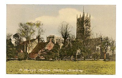 postcard-Leicestershire-Melton Mowbray-St Mary's Church