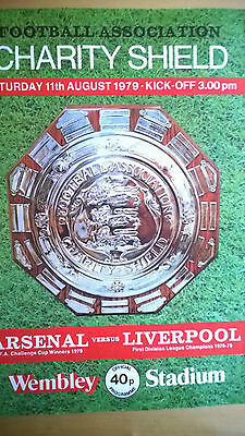 Arsenal vs Liverpool Charity Shield 1979/80