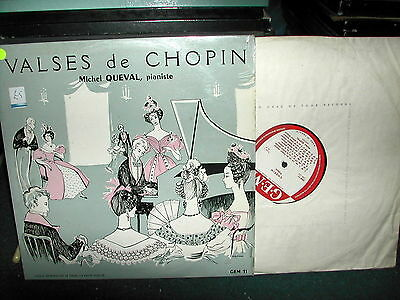 GEM 11 Valses de Chopin Queval  LP French issue