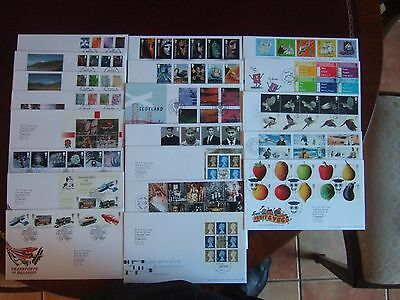 GREAT BRITAIN 2003 x 20 ALL DIFFERENT FIRST DAY COVERS SETS M/SHEETS PRESTIGE