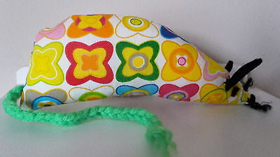 Catnip Mouse -  Funky Floral design - Handmade Cat Toy  X Strong Catnip
