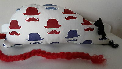 Catnip Mouse -  Moustaches and Bowler Hats - Handmade Cat Toy  X Strong Catnip