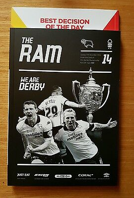*DERBY COUNTY v NOTTINGHAM FOREST DEC 11th 2016/17~MINT & UNREAD~FREE POSTAGE*