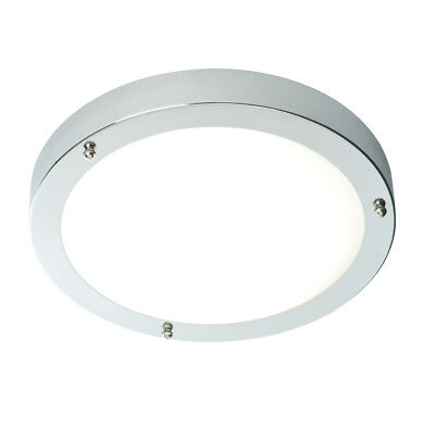 Saxby Portico Cool White LED IP44 Metal Flush Bathroom Ceiling Light Zone 1 2 3