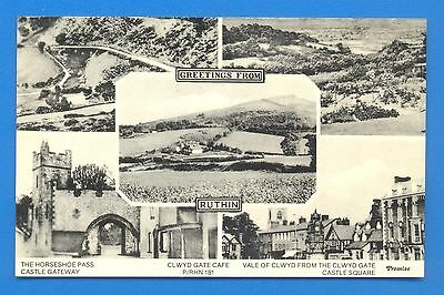Greetings From Ruthin.multi View Postcard