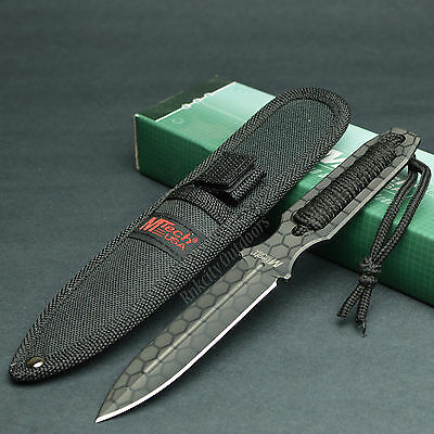 MTECH 440 Stainless Double Edge Fixed Blade Tactical Boot Knife 271 New!