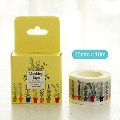 Potted plants grass Washi paper Masking Tape Scrapbook stickers label diy dairy