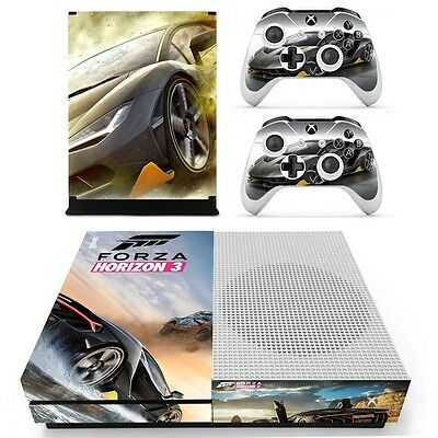 Forza Horizon 3 Xbox ONE S Slim Vinyl Skin Sticker for Console & 2 Controllers