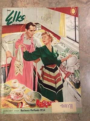Elks Magazine January 1954 Business Outlook Mission Of Service
