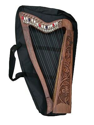 19 String Harp with Levers & Extra Strings, Carry Soft Bag & Tuning Key