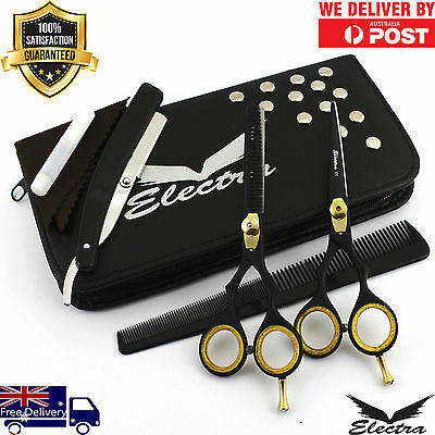 """5.5"""" Professional Barber Hair Cutting Thinning Scissors Shears Hairdressing Set"""