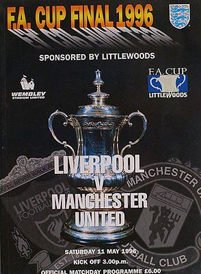 Fa Cup Final Programme And Ticket Liverpool V Man Utd 1996