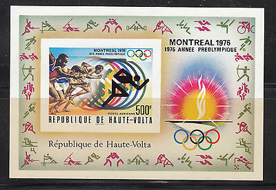 Burkina Faso 1976 Olympics Montreal MS IMPERF Sc C230 mint never hinged
