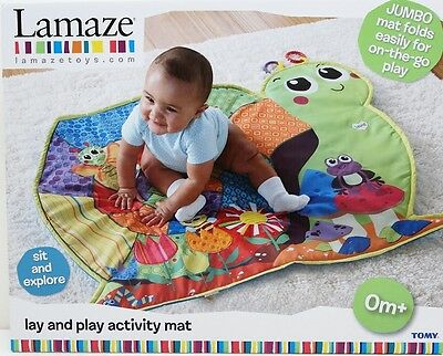 Lamaze Lay And Play Baby Tummy Time Activity Play Mat Snail Bugs Garden Theme