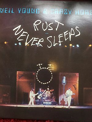 NEIL YOUNG & CRAZY HORSE - RUST NEVER SLEEPS - UK Reprise LP with insert - 1979