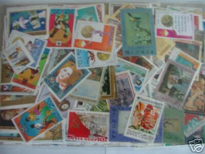 Promotion 500 Timbres Differents Obliteres Du Monde / 500 World Stamps