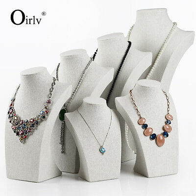 Oirlv Linen Necklace Bust Jewellery Shop Fittings Display Mannequin Best Seller
