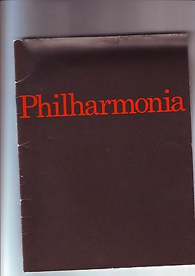 Royal Festival Hall programme - Philharmonia Orchestra