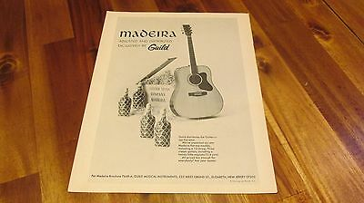 1972 Madeira by Guild Guitar Pinup Ad
