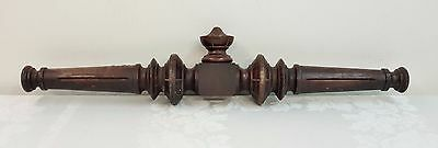Vintage Large Wood Cross Member Embellishment w/ Finial, Architectural Salvage