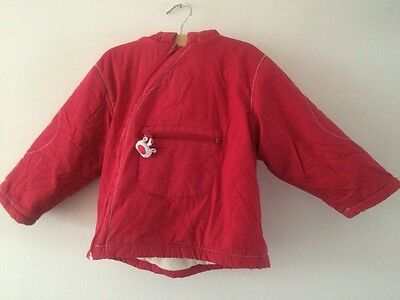 Vertbaudet Red Coat Hooded Jacket Age 2 Years   T710