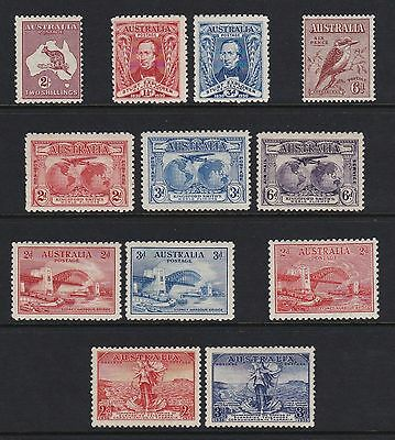 Australia 1930-36 selection of 12 x values - mounted mint £85