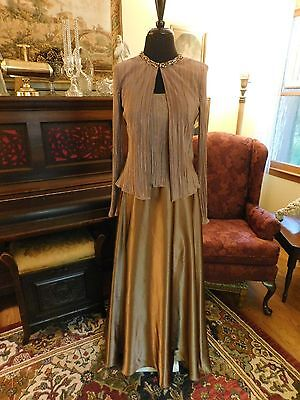 Beautiful Mother Of The Bride Or Groom New Mocha 2-Piece Formal Gown Size 6