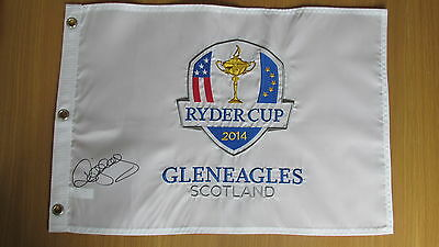 Ryder Cup 2014 Flag Pin signed by Captain Paul McGinley with COA  & Exact Proof