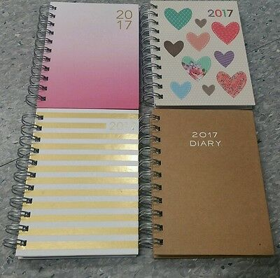 2017 Diary - Week To View (3-4 Days View) - Spiral Wiro Bound  Desk Diary