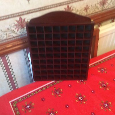 Thimble Display Rack,tray,holder.rosewood,green Baize.holds 72.detachable Inner