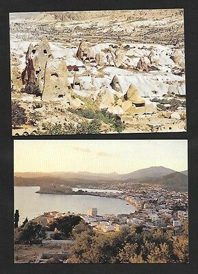Turkey Postcards Bodrum and Goteme 2 Different  Unused