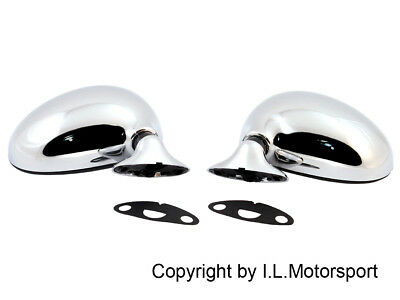 MX-5 Manual Mirror Set Chromed ECE Mazda MX-5 MK1 1989 - 1998