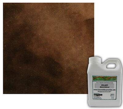 Professional Easy to Apply Concrete Acid Stain-Black Walnut (Dark Brown) 16oz
