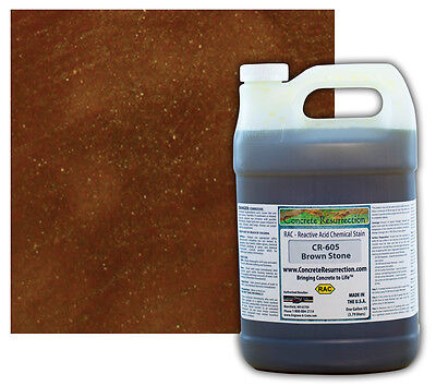 Professional Easy to Apply Concrete Acid Stain - Brown Stone - 1 Gallon