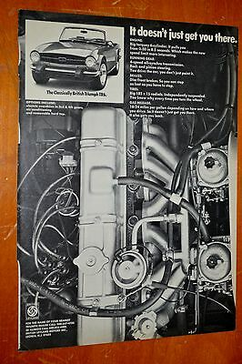 Clever 1974 Triumph Tr6 Sports Car Ad With Engine Close Up - 70S British Classic
