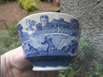 Vintage Copeland Spode Italian Blue & White Pattern cup and saucer