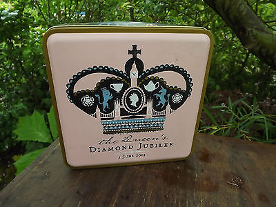 2012 Queen's Diamond Jubilee square tin box made for Marks & Spencer