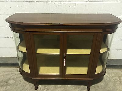 Edwardian Inlaid Bow Fronted Cabinet