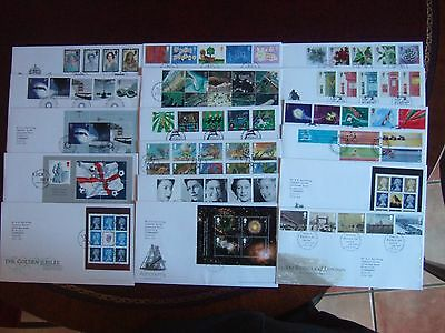 GREAT BRITAIN 2002 x 17 ALL DIFFERENT FIRST DAY COVERS SETS M/SHEETS PRESTIGE