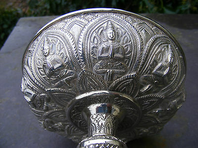 Antique Silver Siamese sweet meat / Bon Bon dish, early 20c.