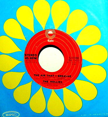 """The Hollies  7"""" The Air That I Breathe Anno  1974 - No More Riders - Label Epic"""