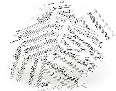 "150 pieces 4"" square old music scores songs sheets scrapbooking craft collage"