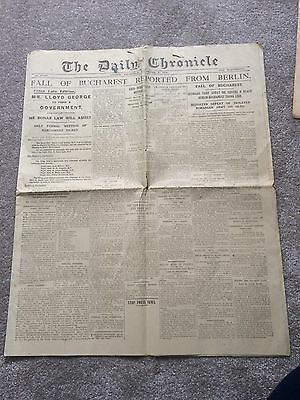 Authentic & Original The Daily Chronicle Newspaper WW1 News December 1916
