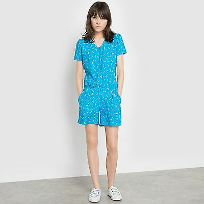 La Redoute Womens Short-Sleeved Playsuit