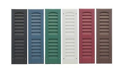 "Shed Shutters 6"" x 21"" One Pair 6 Colors Playhouse Storage Sheds Garages Coops"